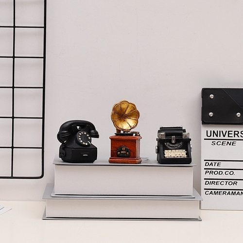 New Gift for Friend Antique Imitation Nostalgia Wireless Ornament MINI Retro Radio Pianos Cameras Telephone Model Home Decor