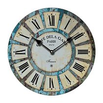 1Pc Decorative Vintage Clock Silent Round Wall Clock Non Ticking for Living Room Kitchen Bathroom Bedroom