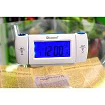 Projection Clapping Controlled Alarm Clocks Mini Portable Dual Projection Voice Controlled LCD Backlight Desk Clock