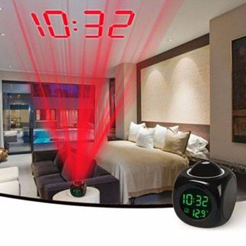 Digital LCD Voice Talking Multifunction LED Projection Alarm Clock Temperature Budzik Desk Clock Reloj Despertador Table Clock