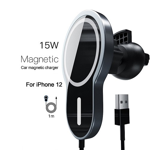 For Safe Magnetic 15W Wireless Car Fast Charger Holder For iPhone12 Pro Max Decorative Telescopes Infrared Car Wireless Charger