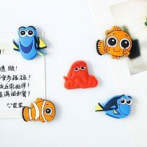 Soft Glue Refrigerator Paste Pvc Creative Cartoon Pattern Gift Tile Refrigerator Sticker Magnets Fridge Magnet Decor Cartoon