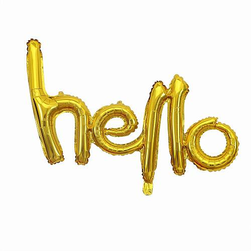 Rose Gold Hello 30 Foil Balloons Number 18 20 21 25 30 40 50 Birthday Party Decoration Inflatable Air Globos for 2020 New Year