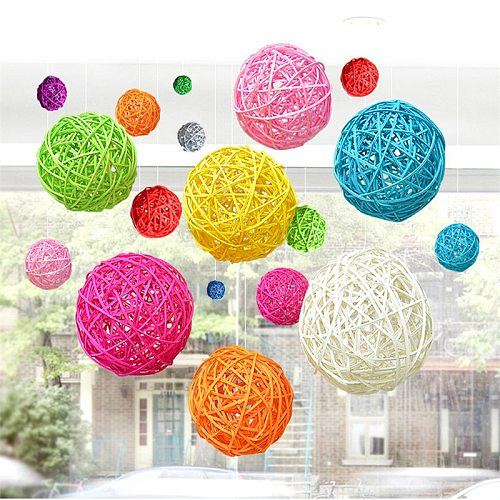 Rattan Wicker Cane Balls for Garden Patio,Wedding,Party decoration, DIY for Thailand style string lights