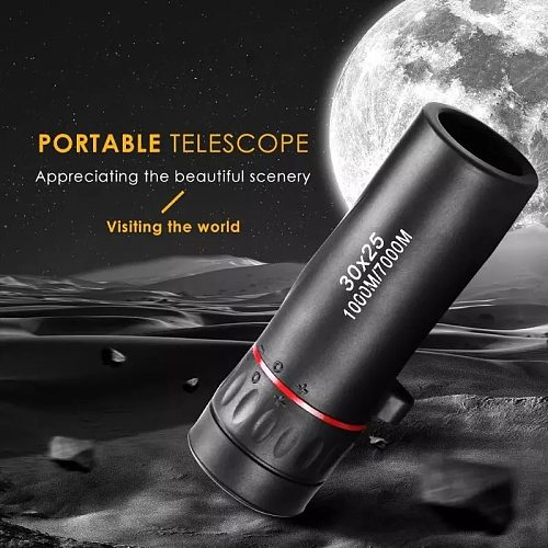 Dropshipping Decoration Monocular Telescope 30X25 Waterproof Mini Portable Military Zoom 10X Scope For Travel Hunting