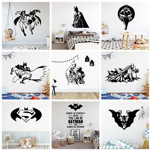 Fast and Powerful HERO Vinyl Wall Sticker Art Wallpaper Living Room Children Room Boys Room Decoration Decal Stickers Murals