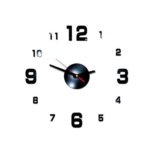 DIY Clock Acrylic Digital Wall Clock 3D Stereoscopic Silent Electronic Clock Wall Decor Stickers Home Office