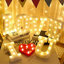 Alphabet Letter LED Lights Luminous Number Lamp Decoration Battery Night Light Party Bedroom Wedding Birthday Christmas Decor