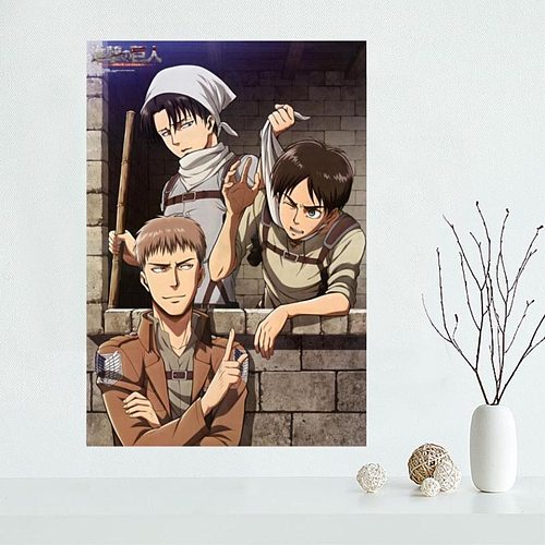 By Number Kit Diamond Painting DIY Attack Of Titan Japan Animation Embroidery Mosaic Full Square Cross Stitch Acrylic Art Canvas