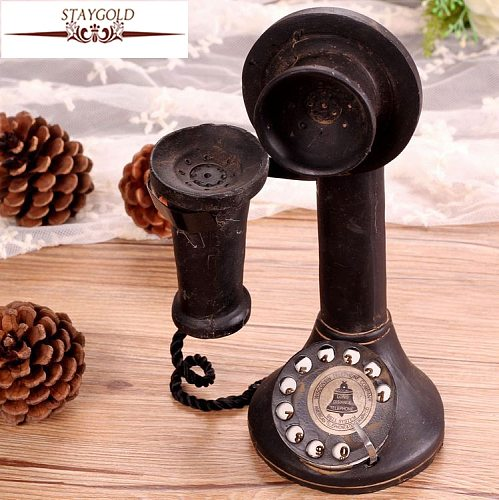 Shabby Chic Zakka Bar Style Vintage Home Decor Crafts Are Restoring Ancient Ways Vintage Telephones 22*11cm