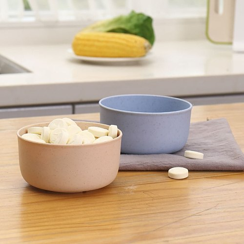 Wheat Straw Bowl Plastic Household Noodle Soup Rice Soup Bowl Vinegar Solid Seasoning Soy Plate Salt Sauce Plate Kitchen Dish