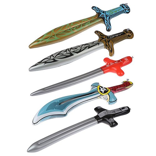 1pc New Inflatable Outdoor Toys Kids Garden Yard Toys Kids Toys Pirate Swords Shape Anime Inflatable Swords Children Gifts