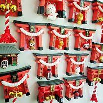 Japan Inari Taisha Shrine Souvenir Cartoon Magnetic Sticker Fox Bell Osaka Fuji Travel Memorial Fridge Magnet Decoration