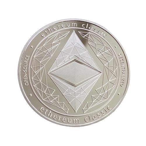 Gold Silver Plated Ethereum Coin Art Collection Gift Physical Metal Antique Imitation Non-currency Coins Collectibles