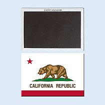 Golden State,Home Decor California State Flag Fridge Magnet 002
