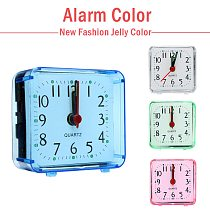 New Fashion Jelly Color Small Alarm Clock Cute Creative Fashion Student Clocks Bedroom Bedside Office Electronic Clock