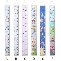 Cartoon Height Ruler Hanging Height Chart DIY Wall Decor for Baby Child Kids Growth Chart for Bedroom Home Decoration