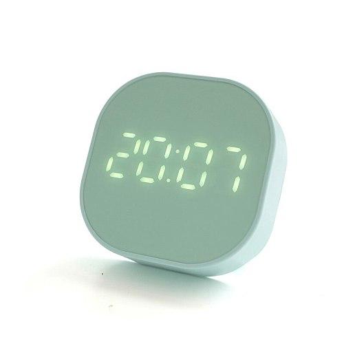 Digital Silent Table Clock Metal Nordic Minimalist Bedroom Small Kids Deskclock Luminous Horloge Living Room Decoration ED50ZZ