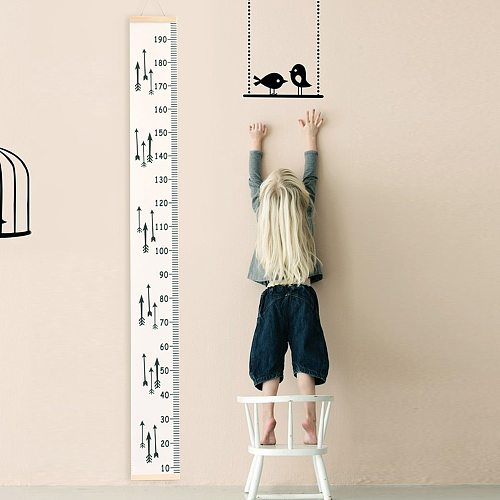 Kid Growth Chart Height Ruler Child Growth Size Chart Height Measurement Ruler For Children'S Room Home Decor Wall Sticker