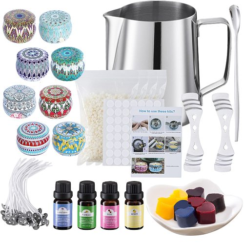 For Beginners Professional DIY Candle Making Kit Scented Complete Craft Tools Heating Cup Easy Use Tins Portable Accessories