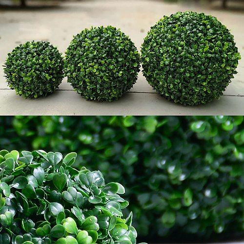 Artificial Grass Decor Plastic Ball Hanging Leaf Effect Green Grass Ball DIY Milan Grass Fake Flower bonsai Decor accessory