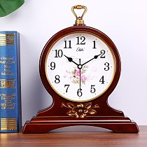 Luxury Vintage Table Clock Gift European Style Creative Silent Digital Table Clock Living Room Reloj Mesa Home Decoration DG50ZZ