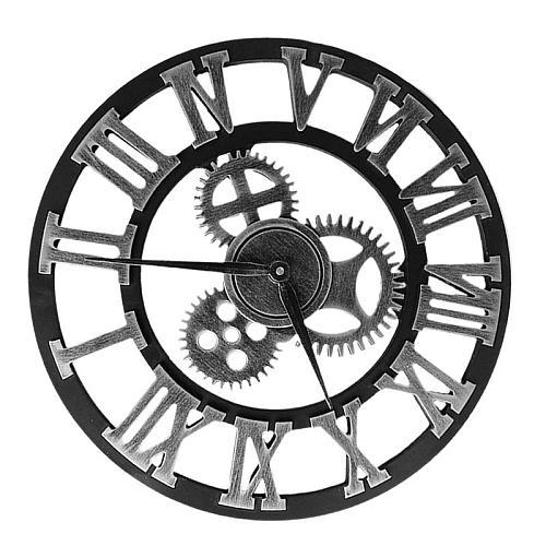 Wall Clock Industrial Gear Wall Clock Decorative Wall Clock Industrial Style Wall Clock (Without Battery) Reloj De Pared