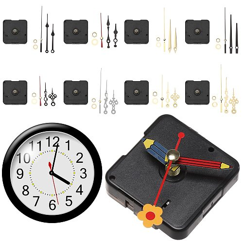 1 Set Watch Clock Movement Quartz Clock Parts Silent Scanning Manual DIY Handicraft Bell Accessories Wall Clock Repair Kits