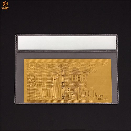 Israel Gold Banknote 100 New Shekel Souvenir Money World Currency Paper Collection With COA