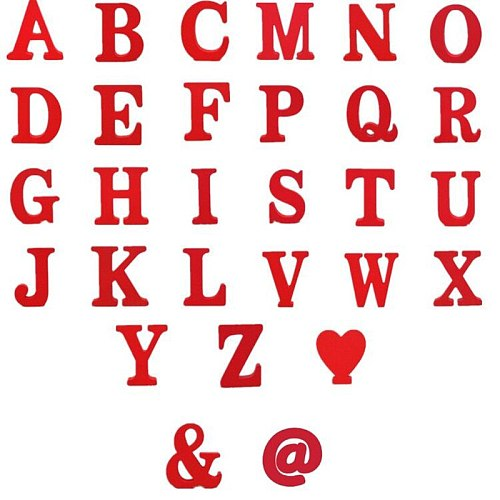 1pcs 10x10CM Red Wooden Letters English Alphabet Number Decoration Home Furnishing Name Design Art Craft Wedding Home Decor A-Z