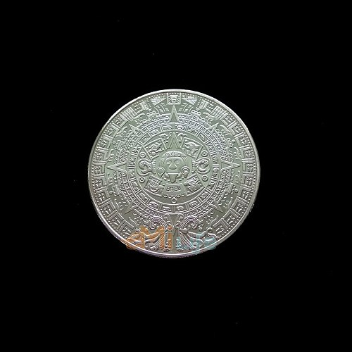 Mayan relief coin pyramid sundial gold decoration Creative Souvenir Plated Collectible carving Gift Bit Art pk bit fil LTC coin
