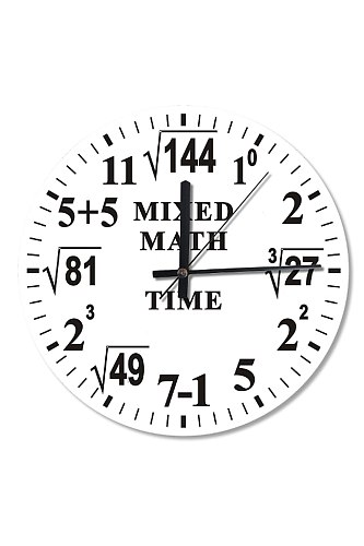 50 Cm Diameter Math Processing Time Wall Clock Wooden Clock Specialty Clock Home Decoration Gift Wall Clock Classy Stylish Clock