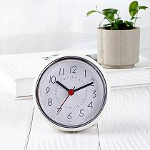 Waterproof Suction Cup Battery Operated Silent Non-Ticking Bathroom Wall Clock Family minimalist style bedroom Wall Clock