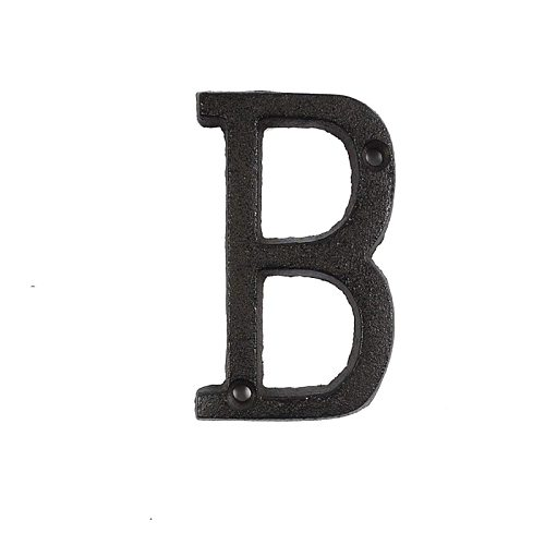 Metal Letters Numbers Cast Iron Decoration House Sign Doorplate DIY Cafe Wall OW