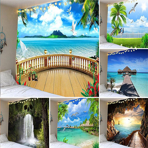 New Landscape Forest Series Tapestry Wall Decoration Hanging Cloth Home Decoration Tapestry Bedroom Aesthetic Wall Hanging