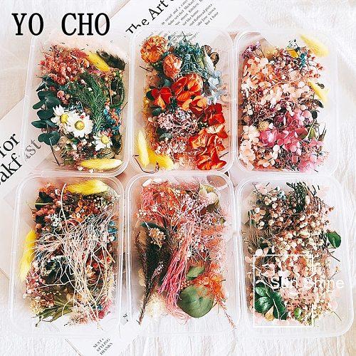 YO CHO 1 Box 10 Kind Dried Flower DIY Accessories Dry Aromatherapy Candle Epoxy Resin Pendant Craft Home Wedding Flower Decor