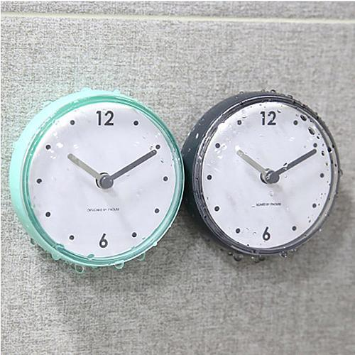 Silicone Waterproof Kitchen Bathroom Bath Shower Suction Cup Clock Colorful for Bathrooms Kitchen
