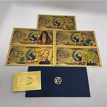 5 pcs Dr.STONE Anime Japanese Gold Banknotes for Collection Gold Banknote Sets collection and gifts hot sale New Type