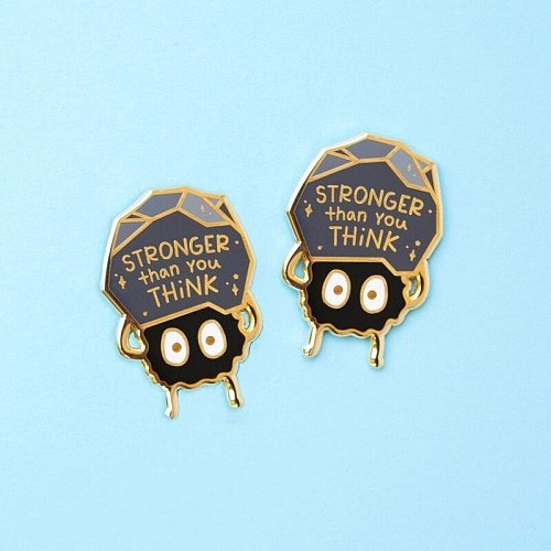 Stronger Than You Think  Hard Enamel Pins Cute Cartoon Anime Brooches Lapel Metal Badge Backpack Scarf Button Accessories Gift