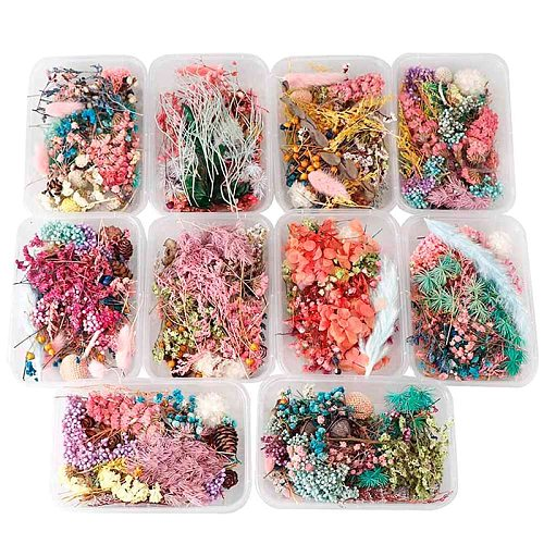 1 Box Dried Flower Dry Plants For Aromatherapy Candle Epoxy Resin Pendant Necklace Jewelry Making Craft DIY Accessories