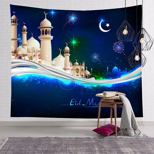 Eid Mubarak Decoration Tapestries Muhammad Ramadan Moon Decoration Ramadan Mubarak Party Supplie Ramadan Party Decor EID Mubarak