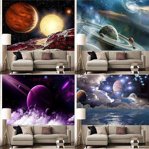 Space Galaxy Sky Landscape Art Tapestry Wall Decoration Home Decoration(150cm X 100cm / 150cm X 130cm / 200cm X 150cm)