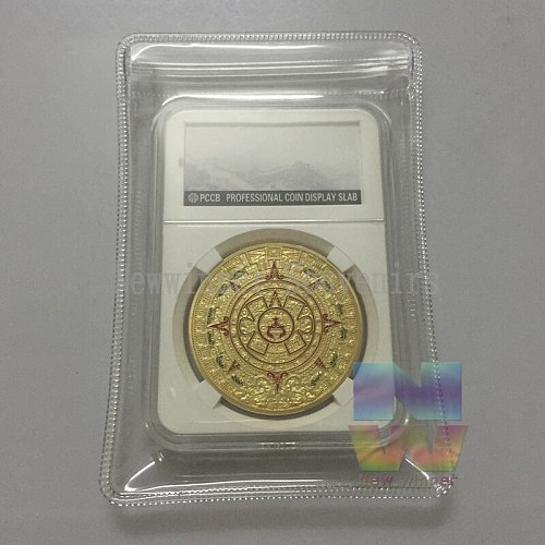 5pcs/lot Maya Sundials Gold Plated Coins American Uncirculated Souvenirs Gifts Coin With PCCB Case