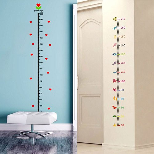 Room Wall Sticker For Kids Height Cartoon Measure Height Meter Wall Decal DIY Children'S Growth Chart Record Home Decoration