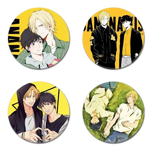 1pc Anime BANANA FISH Cosplay Badge Okumura Eiji Brooch Pins Ash Lynx Collection Badges for Backpacks Clothes Brooch Pins Decor