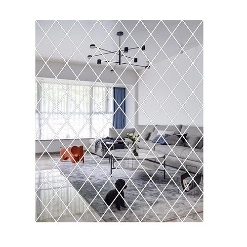 3D Mirror Wall Stickers Diamonds Triangles Acrylic Wall Mirror Stickers for Kids Room Living Room Home Decor fast delivery