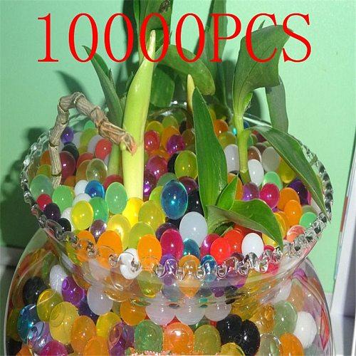 10000pcs/bag Crystal Soil Hydrogel Gel Polymer Water Beads Flower/Wedding/Decoration Growing Water Balls Big Home Decor Crystal