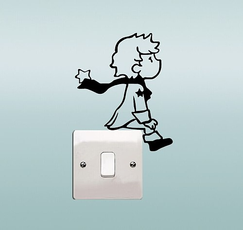 Little Prince Light Switch Wall Decal Vinyl Stickers DIY Bedroom Decoration