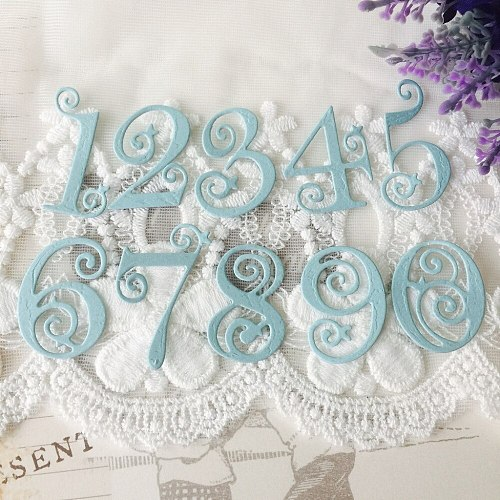 0-9 Lace Numbers Digits Metal Cutting Dies Stencils For DIY Scrapbooking Words Photo Album Decorative Embossing DIY Paper Card