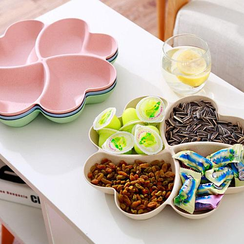 Fruit Snack Plate Candy Dish Dried Fruit Basket Heart Shape Fruit Serving Tray Plate Candy Snacks Nuts Dish Bowl Box Container